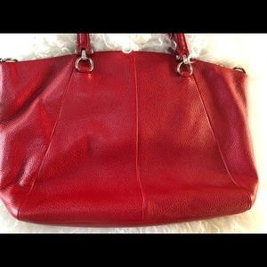 Red Coach Leather Purse , never used